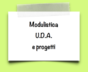 Banner modulistica UDA e progetti