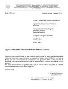 Complimenti Ambasciatore - Apri pdf