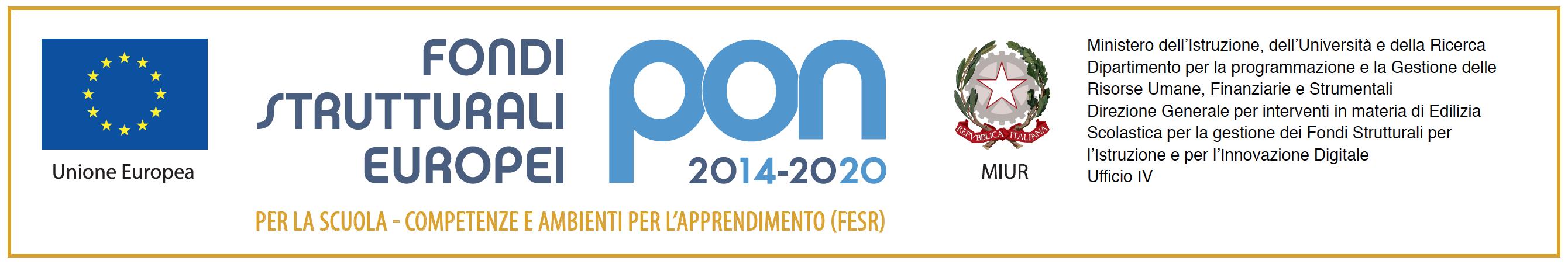 logo Fondi Strutturali europei PON accesso all'area specifica del sito